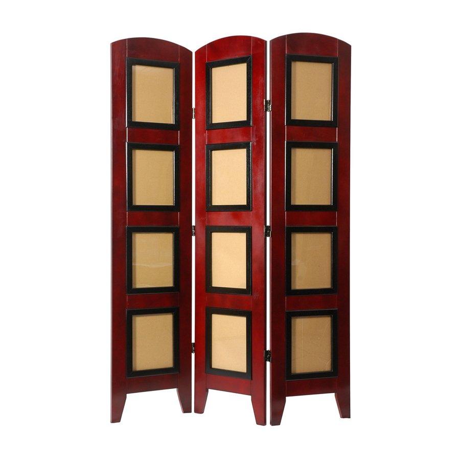 Shop Oriental Furniture 4 Panel Rosewood Folding Indoor