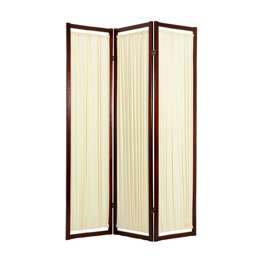 Shop Oriental Furniture Helsinki 3 Panel Rosewood Folding