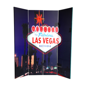 Shop oriental furniture vegas poker 4 panel wood and for Z furniture las vegas