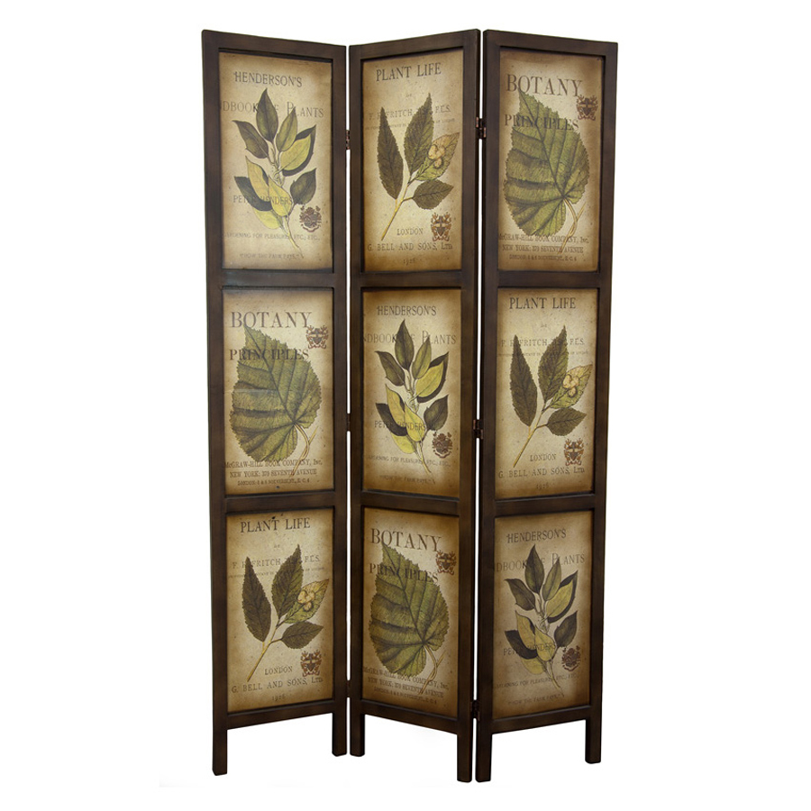 Shop oriental furniture room dividers 3 panel mocha folding indoor privacy screen at - Collapsible room divider ...