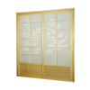 Oriental Furniture Bamboo Tree 2-Panel Natural Wood and Paper Indoor Privacy Screen