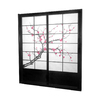 Oriental Furniture Cherry Blossom 2-Panel Black Wood and Paper Indoor Privacy Screen