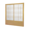 Oriental Furniture Eudes 2-Panel Natural Wood and Paper Indoor Privacy Screen