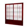 Oriental Furniture Eudes 2-Panel Rosewood Wood and Paper Indoor Privacy Screen