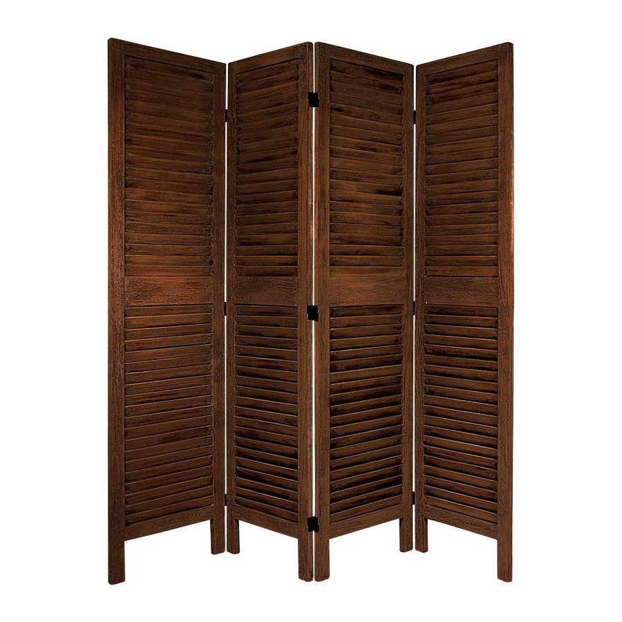 Shop oriental furniture room dividers 4 panel burnt brown for Oriental furniture