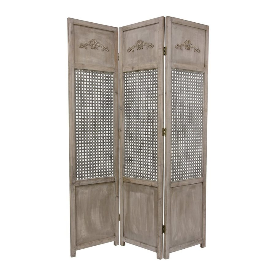 shop oriental furniture room dividers 3 panel distressed wood folding indoor privacy screen at. Black Bedroom Furniture Sets. Home Design Ideas