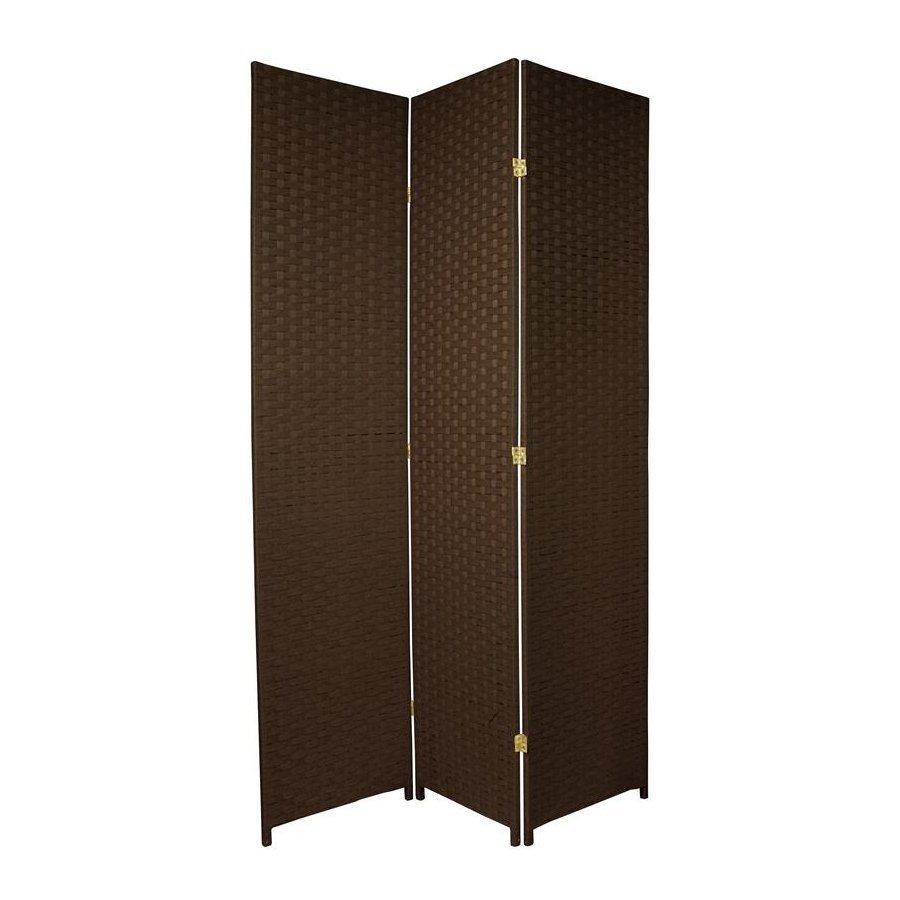 Shop Oriental Furniture Room Dividers 3 Panel Dark Mocha