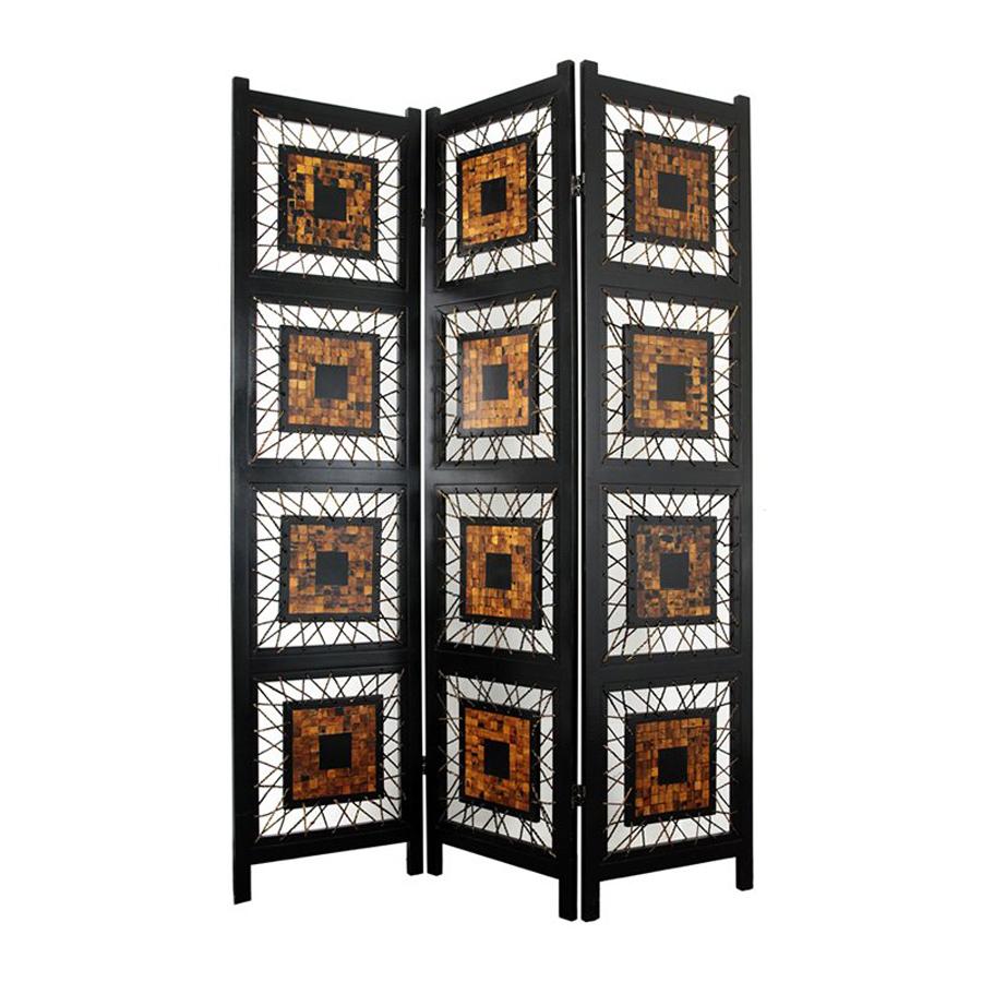 Shop oriental furniture room dividers 3 panel folding for Indoor screen door