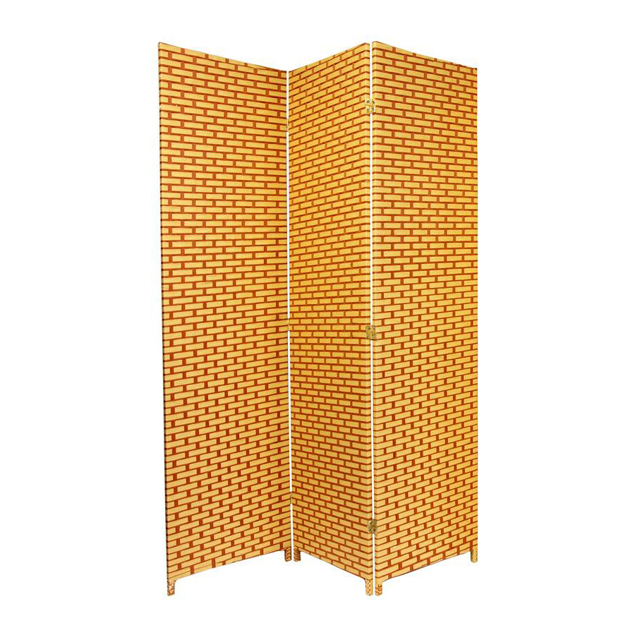 shop furniture room dividers 3 panel rust folding indoor privacy screen at