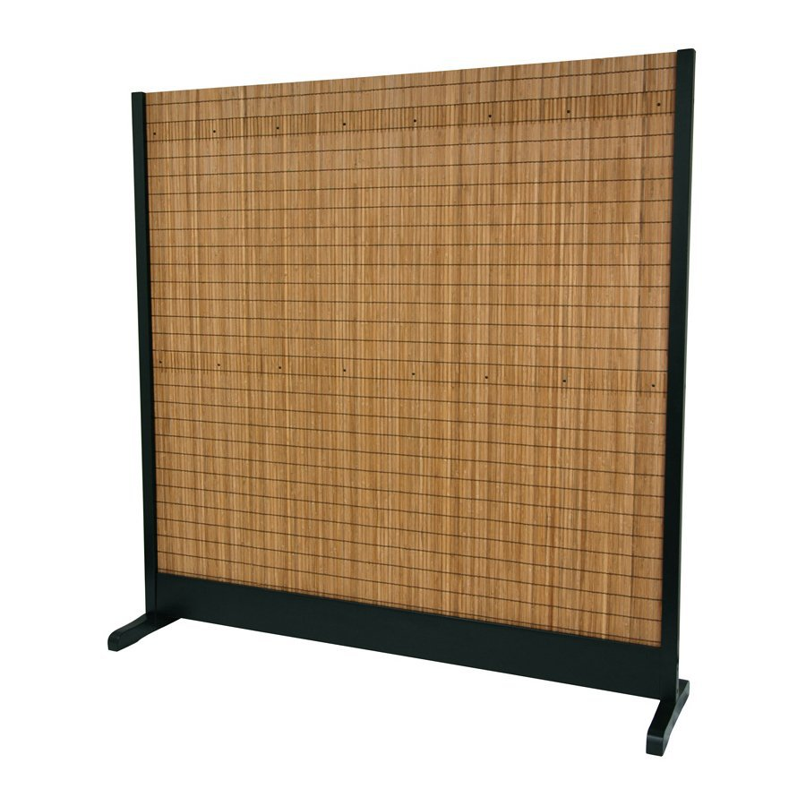 shop oriental furniture 1 panel black indoor privacy