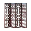 Oriental Furniture 4-Panel Dark Wood Folding Indoor Privacy Screen