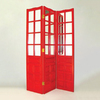 Oriental Furniture 3-Panel Red Folding Indoor Privacy Screen