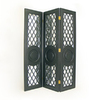 Oriental Furniture 3-Panel Black Folding Indoor Privacy Screen