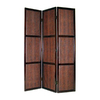 Oriental Furniture 3-Panel Brown Wood Folding Indoor Privacy Screen
