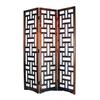 Oriental Furniture Sri Lanka 3-Panel Brown Wood Folding Indoor Privacy Screen