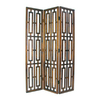 Oriental Furniture Bookmark 3-Panel Medium Brown Wood Folding Indoor Privacy Screen