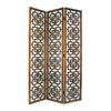 Oriental Furniture 3-Panel Medium Brown Wood Folding Indoor Privacy Screen