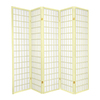 Oriental Furniture 5-Panel Ivory Folding Indoor Privacy Screen