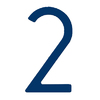 HouseArt 8-in Bonita Blue Screw Mount #2 House Number