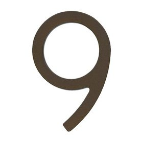 HouseArt 8-in Dark Bronze Screw Mount #9 House Number
