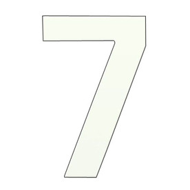 HouseArt 6-in Marshmallow White Adhesive #7 House Number