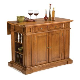 Home Styles 48-in L x 25-in W x 36-in H Cottage Oak Kitchen Island