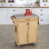 Home Styles 32 1/2-in L x 18 3/4-in W x 35 1/2-in H Natural Kitchen Island