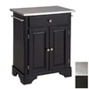 Home Styles 28 1/4-in L x 18 3/4-in W x 36-in H Black Kitchen Island