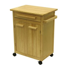 Winsome Wood 27-in L x 18.25-in W x 34.5-in H Natural Kitchen Island with Casters 82027