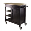 Winsome Wood 36-in L x 18.5-in W x 34.61-in H Beech/Espresso Kitchen Island with Casters