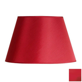 shop cascadia lighting 10 in x 16 in red drum lamp shade at. Black Bedroom Furniture Sets. Home Design Ideas