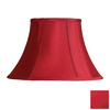Cascadia Lighting 5-1/2-in x 20-1/4-in Red Bell Lamp Shade