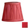 Cascadia Lighting 5-1/4-in x 6-1/4-in Red Chandelier Lamp Shade