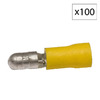 Morris Products 24-Amp 300-Volt Yellow 1-Wire Connector