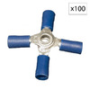 Morris Products 27-Amp 600-Volt Blue 4-Wire Connector