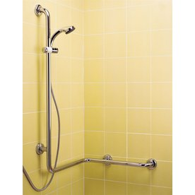 Ponte Giulio USA Polished Steel Wall Mount Grab Bar