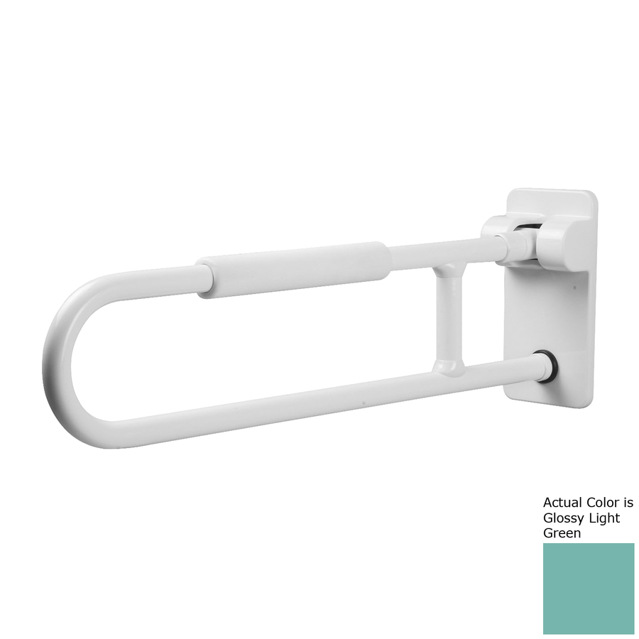 Ponte Giulio USA Glossy Light Green Wall Mount Folding Grab Bar
