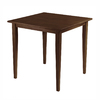 Winsome Wood Groveland Antique Walnut Square Dining Table