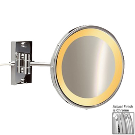Shop Nameeks Windisch Chromed Brass 3x Magnifying 9 In Wall Mounted Vanity Mi