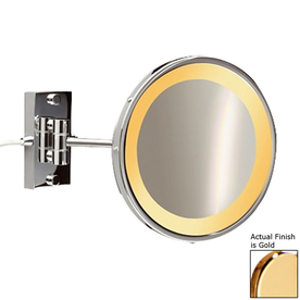 Shop Nameeks Windisch Gold Brass 5x Magnifying 9 In Wall Mounted Vanity Mirro