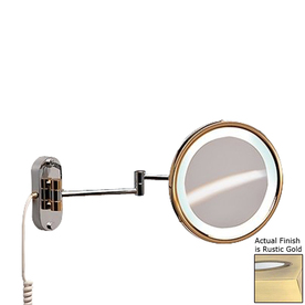 Shop Nameeks Windisch Rustic Gold Brass 5x Magnifying 18 7 In Extendable Wall