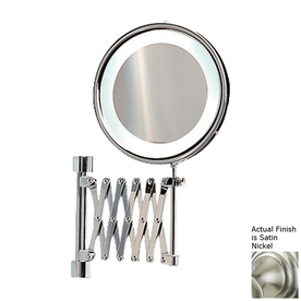 Shop Nameeks Windisch Satin Nickel Brass 3x Magnifying Retractable Wall Mount