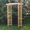 All Things Cedar 3-ft 9-in W x 7-ft 2-in H Natural Garden Arbor
