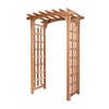 All Things Cedar 55-in W x 85-in H Finely Sanded Pagoda Garden Arbor