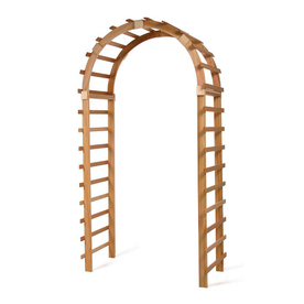 All Things Cedar 3-ft 11-in W x 7-ft 6-in H Natural Garden Arbor