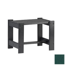 Siesta Furniture Simply Siesta 19.5-in x 14-in Hunter Green Rectangle Patio End Table