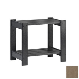 Siesta Furniture Simply Siesta 19.5-in x 14-in Weathered Wood Rectangle Patio End Table