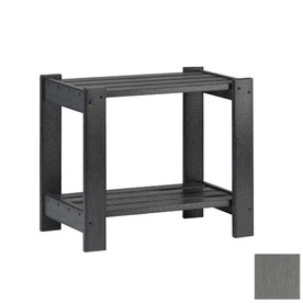 Siesta Furniture Simply Siesta 19.5-in x 14-in Slate Gray Rectangle Patio End Table