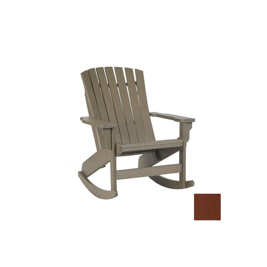 Furniture Westport Burgundy Plastic Slat Seat Outdoor Rocking Chair ...