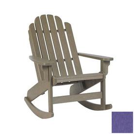 ... Furniture Bayfront Purple Plastic Slat Seat Outdoor Rocking Chair